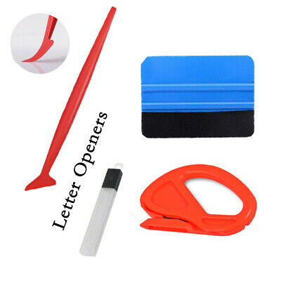 UK Pro 5pcs Car Vinyl Wrapping Tools Kit Window Tint Tuck Gasket  Squeegee