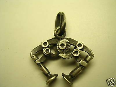 DUCATI DESMO silver pendant Burnished 925