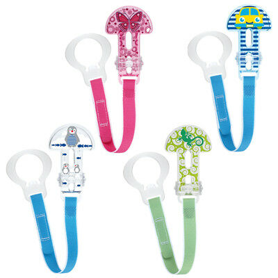 Baby Soother Dummy Holder Clip Strap Chain Cover MAM