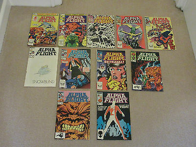 ALPHA FLIGHT, MARVEL COMICS X 11-No 's 1-11 consecutive-1983-Job Lot-X -MEN
