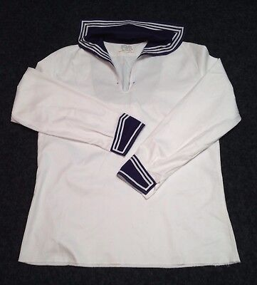 Sailors Top Tunic Genuine German Naval Navy and White Size Large Fancy Dress