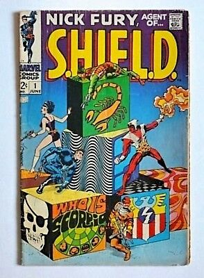 Nick Fury, Agent of SHIELD #1 ~ 1st Scorpio ~ Jim Steranko ~ Marvel Comics 1968