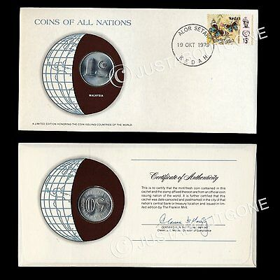 Malaysia 1979 50 Sen Fdc Coins Of All Nations Uncirculated Stamp 1977 Cover Pnc