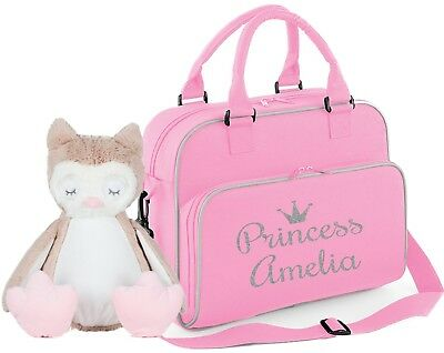 Personalised baby changing nappy travel pram bag ~ princess prince baby gift