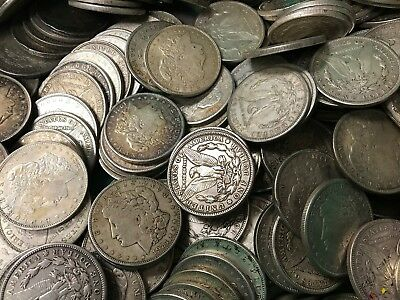 (1) Morgan or Peace Silver Dollar Cull Numismatic Coin Investments 1878 - 1935