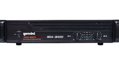 Gemini XGA-3000 Watts Professional Power Amplifier 2-Ch Bridgeable DJ Stereo Amp