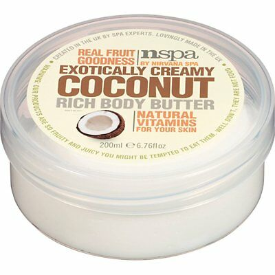 Nspa Fruit Extracts Rich Body Butter Exotically Creamy Coconut 200ml