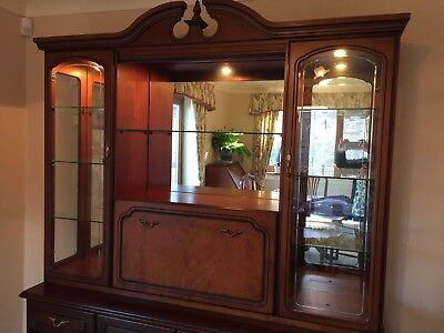 Cherry Dresser Wall Unit Display Cabinet