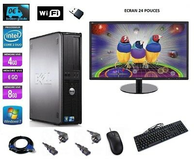 ORDINATEUR DE BUREAU   PC FIXE DELL 360 760 24