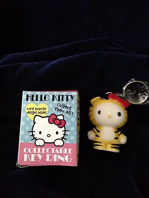 New Sanrio Hello Kitty Collectible Keychain Tiger Figure Design Urban