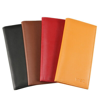 Checkbook Cover Holder Super Slim Plain Mens Womens Micro Fiber Leather