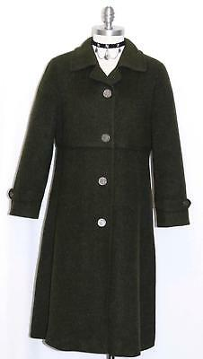 LODEN WOOL Trench Over Coat Austria Jacket NICE LINING Women THICK & WARM 10 M