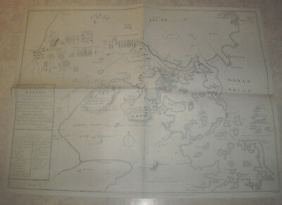 1775 Map Of Boston And Surrounding Areas,reprint,,,