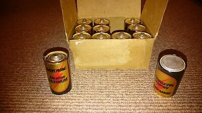 Vintage Rayovac 1.5V D Call Battery JOB LOT x 12 1970's 1980's NATO Issue