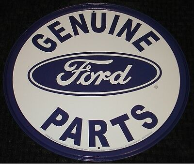 Ford Genuine Parts Vintage Style Round Tin Sign