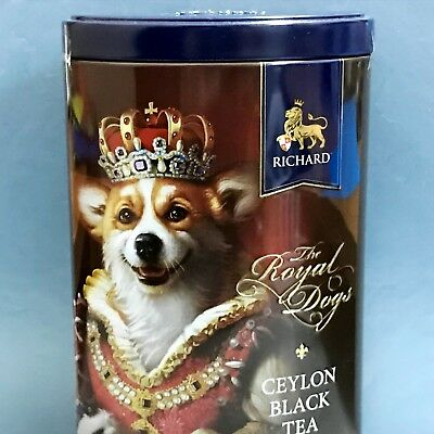 Corgi Richard The Royal Dogs black tea loose leaf 80 g metal box