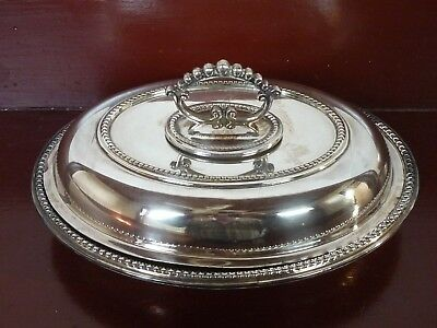 Vintage English Silver Plate Covered Dish
