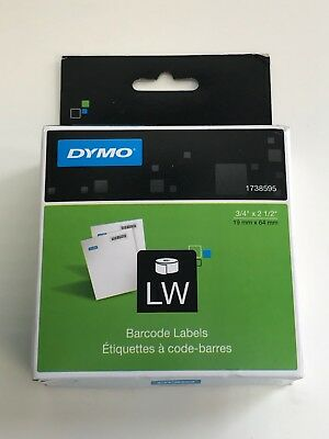 DYMO LabelWriter Bar Code Labels 3/4 x 2 1/2 White 450 Labels/Roll 1738595