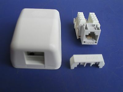 Krone Complete Wall Surface Telephone Socket Outlet  Telstra Optus BEST QUALITY