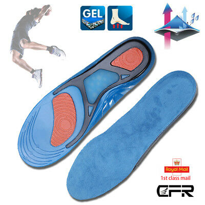 CFR Feet Support Orthotic Gel Pain Relief Massaging Sport Running Shoe Insoles P