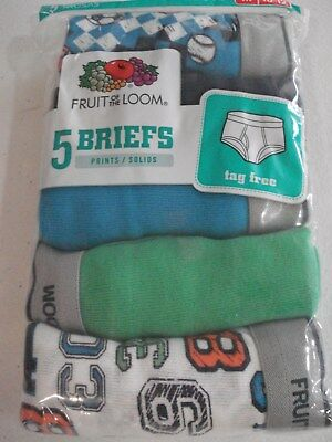 Fruit of the Loom Boys 5 Pack Briefs Size 10/12 NEW