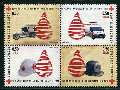 Ecuador 2010 Rotes Kreuz Red Cross Ambulanz Ambulance Medizin 3211-3214 MNH