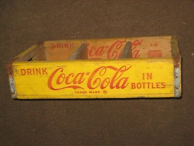 Vintage Coca-Cola Wooden Wood Bottle Crate Carrier Case 60's Coke Collectible