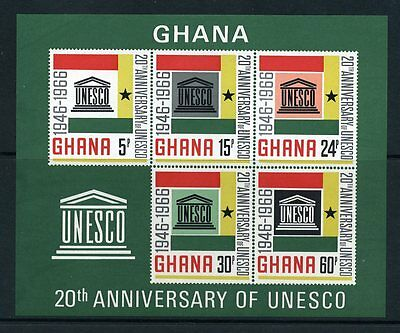 Ghana 1966 UNESCO M/sheet MNH - SG MS 440
