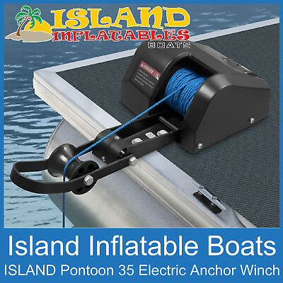 ANCHOR DRUM WINCH 12V ✱ ISLAND PONTOON  Model 35 ✱Boats up to 22ft, 7m FREE POST