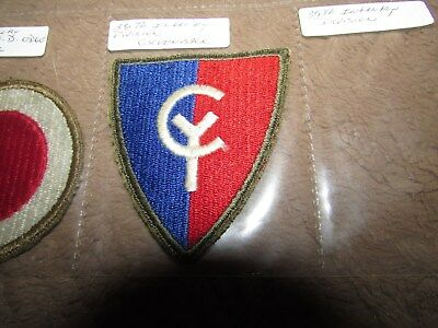 Greenback WW2 Vintage 38th INFANTRY DIVISION US ARMY PATCH Cut Edge ORIGINAL