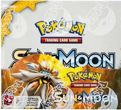 Pokemon Tcg Sun & Moon Booster Factory Sealed Box - 36 Packs