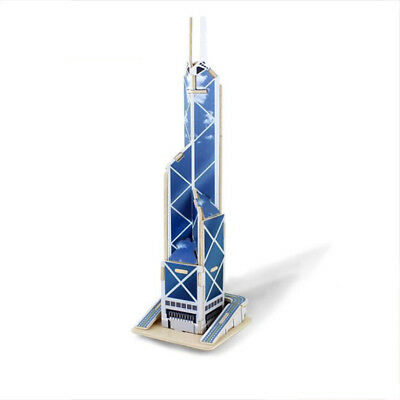 3D Puzzle Model Wood Bank of China Tower DIY Jigsaw Souvenir Toy For Gifts