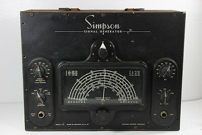 Vintage VTG Simpson Signal Generator Model 415 - Untested/For Parts/Repair/As Is