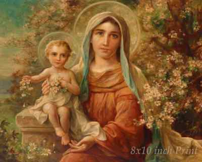Madonna and Child by Hans Zatzka - Virgin Mary Jesus  8x10 Print Picture 1684
