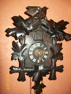 Antique working Black Forest Wall Mounted Large Cuckoo Clock/made in Germany