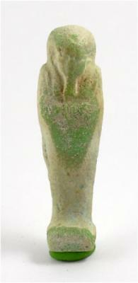 Egypt Ptolemaic Period green-blue faience ushabti for Nefer-Renpet