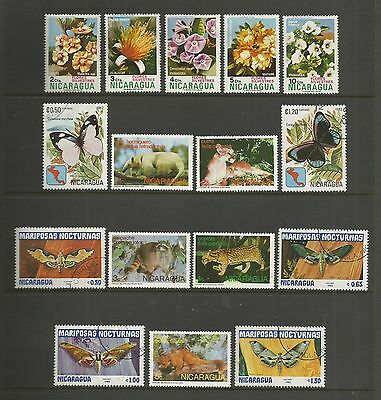 NICARAGUA 1974 1982 1983 mixed collection