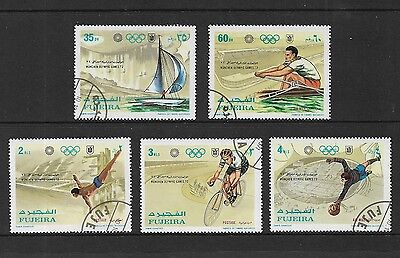 FUJEIRA 1971 Munich Olympic Games, set of 5, CTO