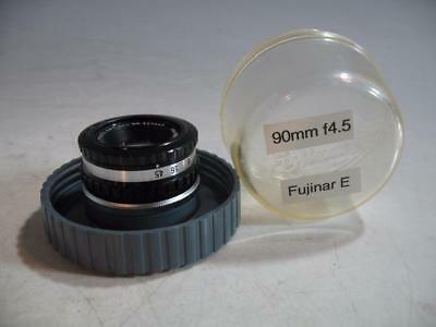 Fuji Fujinar-E 9cm f4.5 M39 Leica Screw Mount Enlarging Lens With Case & Jam Nut