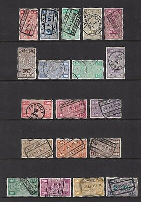 BELGIUM 1923 Railway Parcels stamps + 1924 surcharge, used