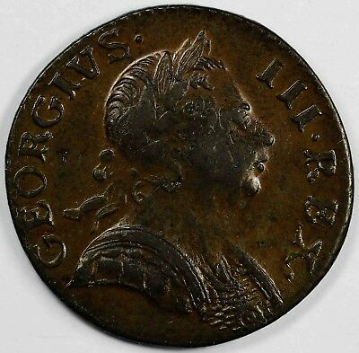 1771 1/2c Style of 73 Great Britain George III Half Penny UNSLABBED