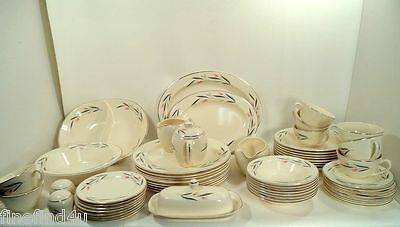 60 Pc Set Knowles China Carlton H5004 Svc for 8 + Serving Pieces Dishes