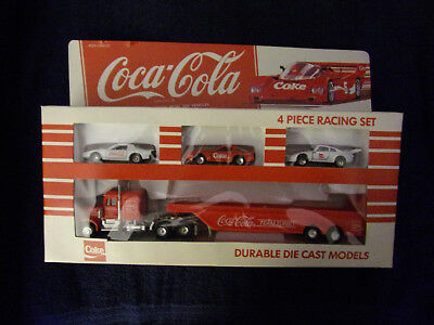 1979 Coca Cola 4 Piece Racing Set - Die-cast Metal Toy Vehicles