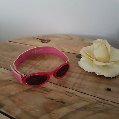 Girl PINK Baby BANZ Sunglasses Scuba Adjustable Strap Twins 0-2Yrs 2 Pairs Avail