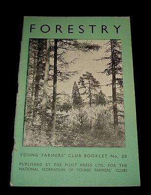 VINTAGE 1947 YOUNG FARMERS CLUB BOOKLET # 20 ~  Forestry
