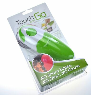 NEW TOUCH AND GO ELECTRIC CAN OPENER Battery Electric Automatic GREEN