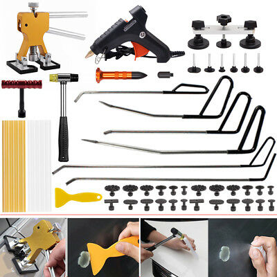 PDR Paintless Dent Repair Tool Removal Puller Hail Hammer Pump Wedge Rods Kit US