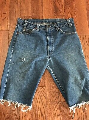 Vintage Levi's Orange Tab Cut-off Denim Shorts - 33