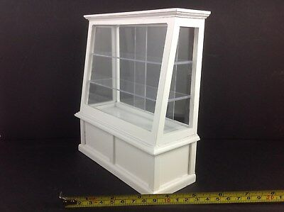 Dollhouse Miniature Furniture 3 Tier White Wood Display Shelf Case Cabinet 1:12