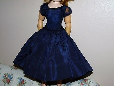 Vintage 1950s Madame Alexander Tagged CISSY gown Navy with tulle Taffeta dress